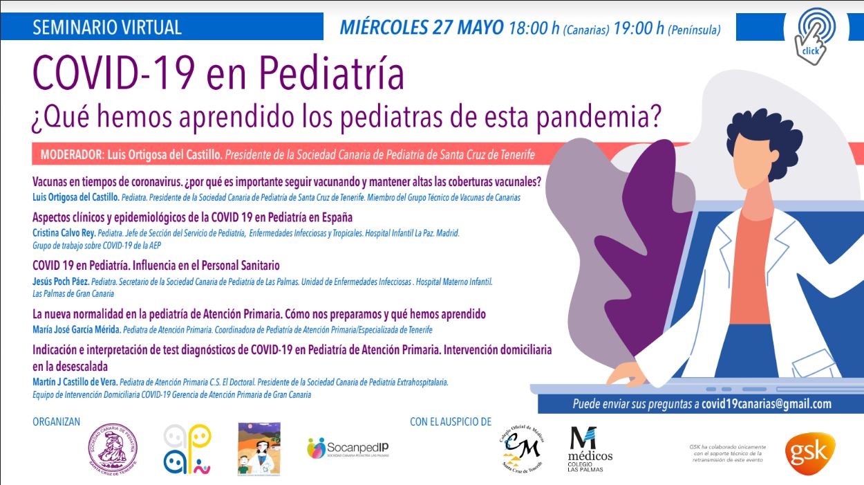 INVITACIÓN SEMINARIO VIRTUAL COVID 19 EN PEDIATRÍA